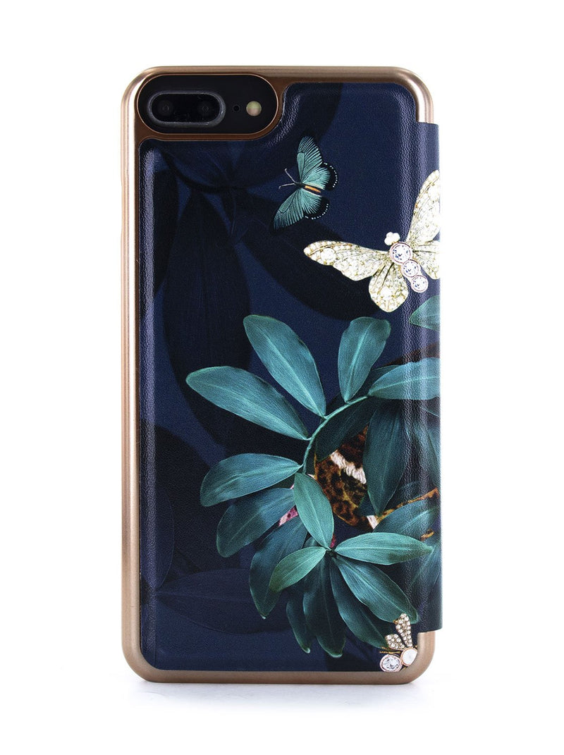 Back image of the Ted Baker Apple iPhone 8 Plus / 7 Plus phone case in Houdini Green style