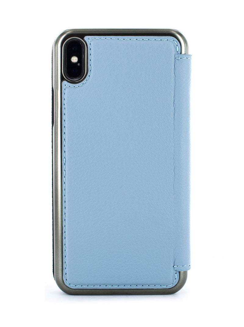 Back image of the Greenwich Apple iPhone XS Max phone case in Beach House Blue