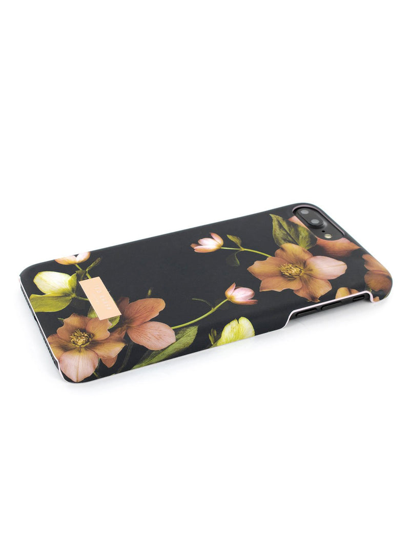 Face down image of the Ted Baker Apple iPhone 8 Plus / 7 Plus phone case in Arboretum Black
