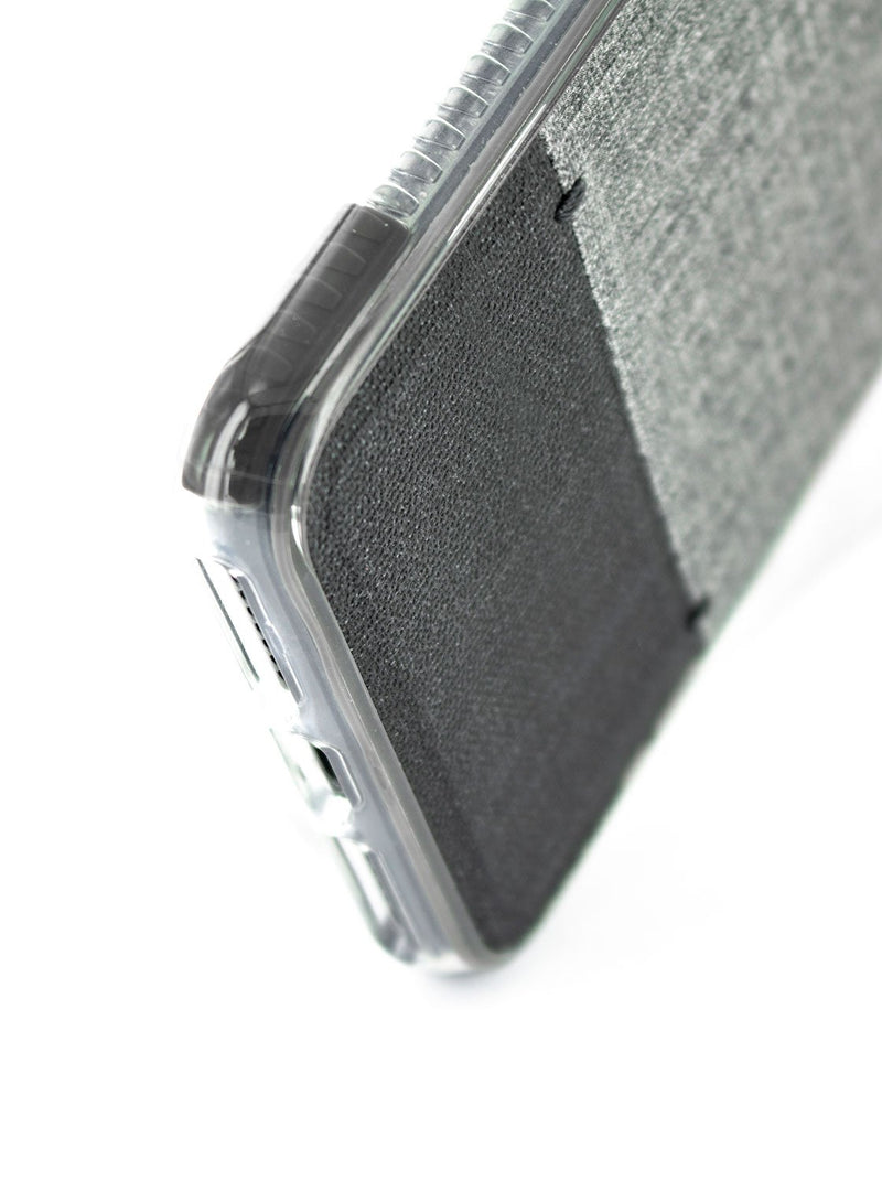 Bottom detail image of the Proporta Apple iPhone 8 / 7 / 6S phone case in Grey