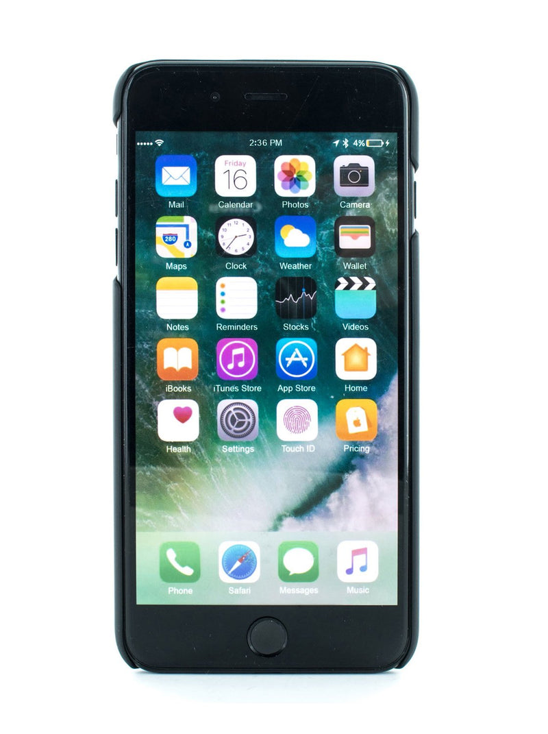 Front image of the Proporta Apple iPhone 8 Plus / 7 Plus phone case in Black
