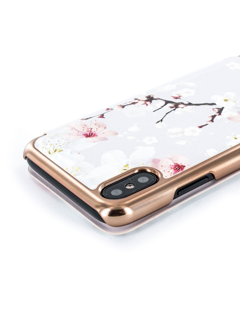 Detail image of the Ted Baker Apple iPhone XS / X phone case in White