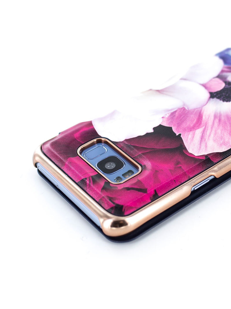 Detail image of the Ted Baker Samsung Galaxy S8+ phone case in Black