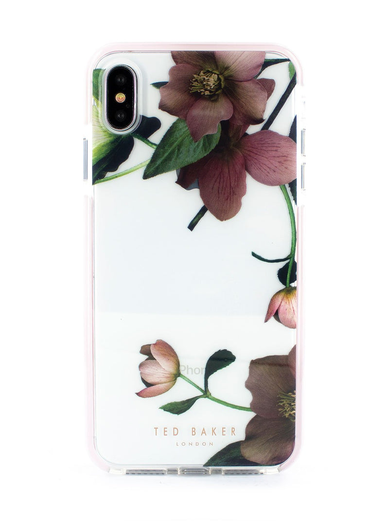 Hero image of the Ted Baker Apple iPhone XS Max phone case in Clear Print
