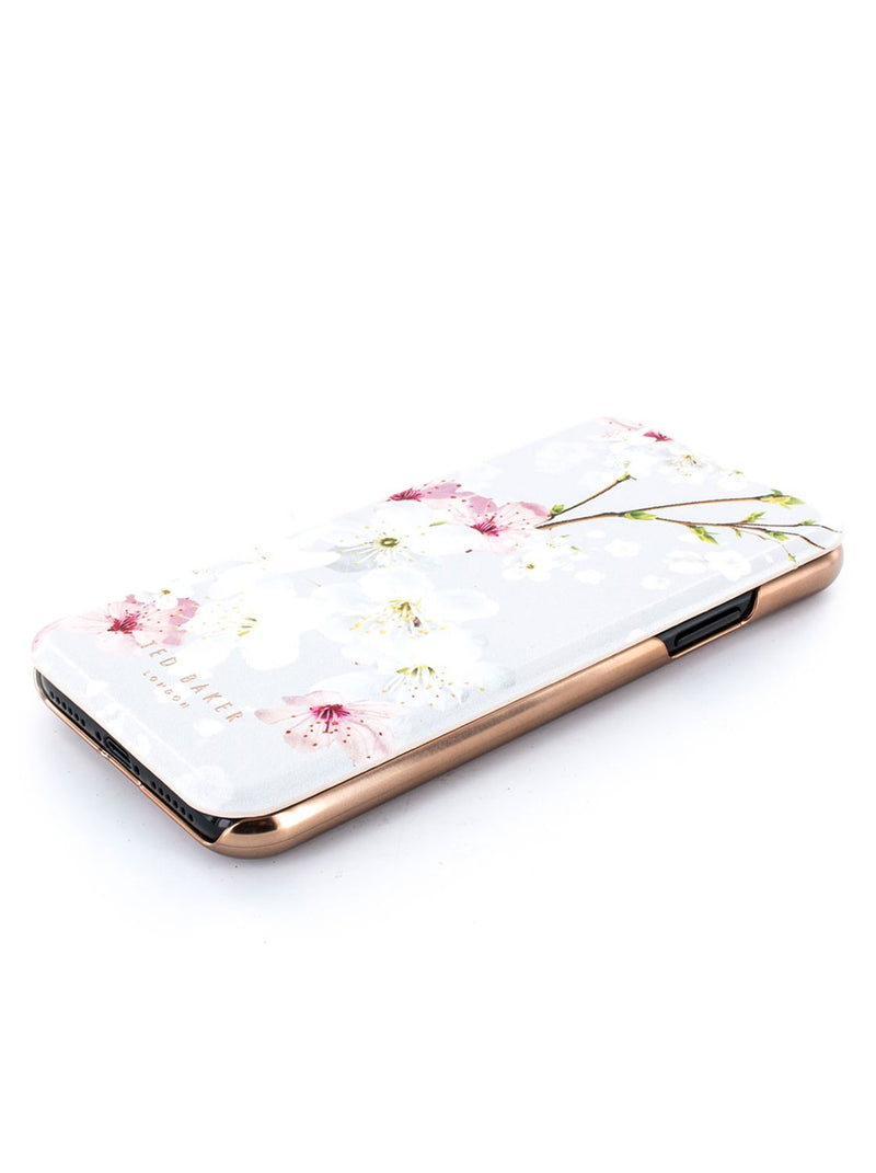 Face up image of the Ted Baker Apple iPhone XS / X phone case in White