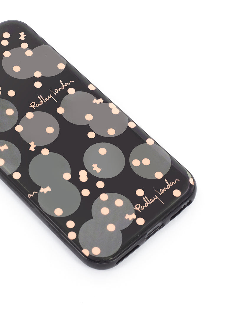 RADLEY Back Shell for iPhone 6/7/8 - Charcoal / Polka Dot