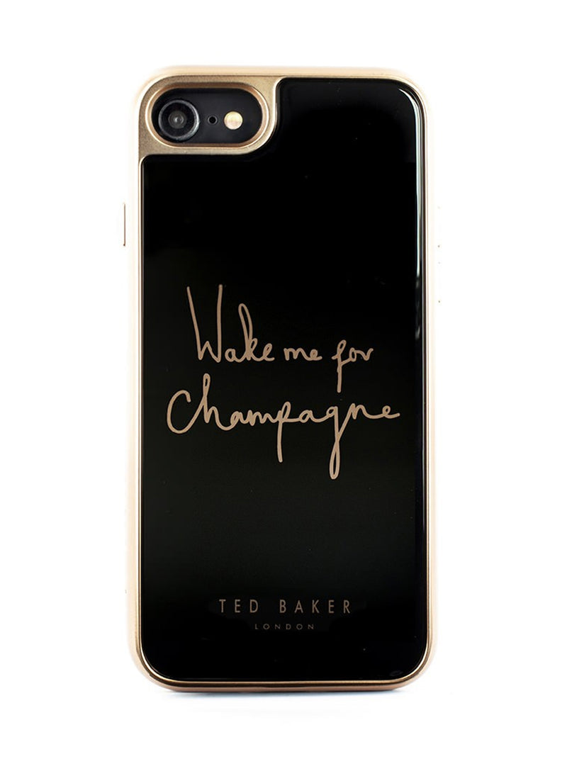 Ted Baker BUBLIE Premium Tempered Glass Case for iPhone SE (2020) / 8 / 7 / 6 - CHAMPAGNE