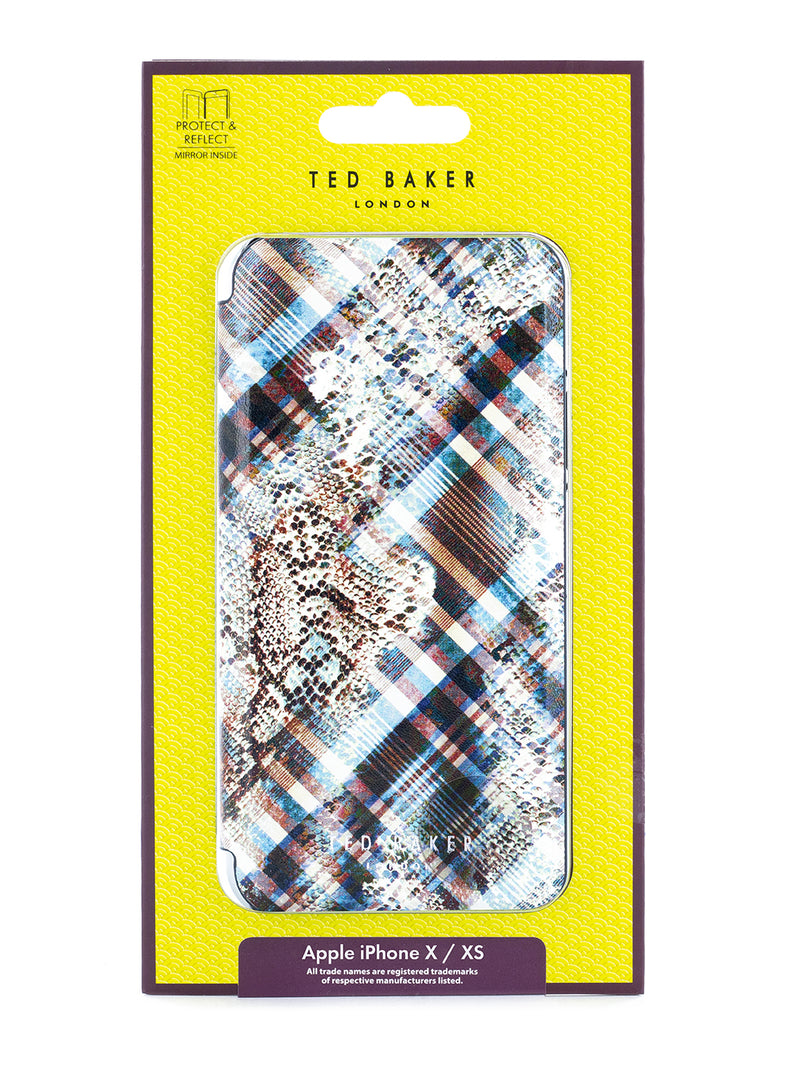 Ted Baker Book Case for iPhone X / XS - POPPPY/QUARTZ