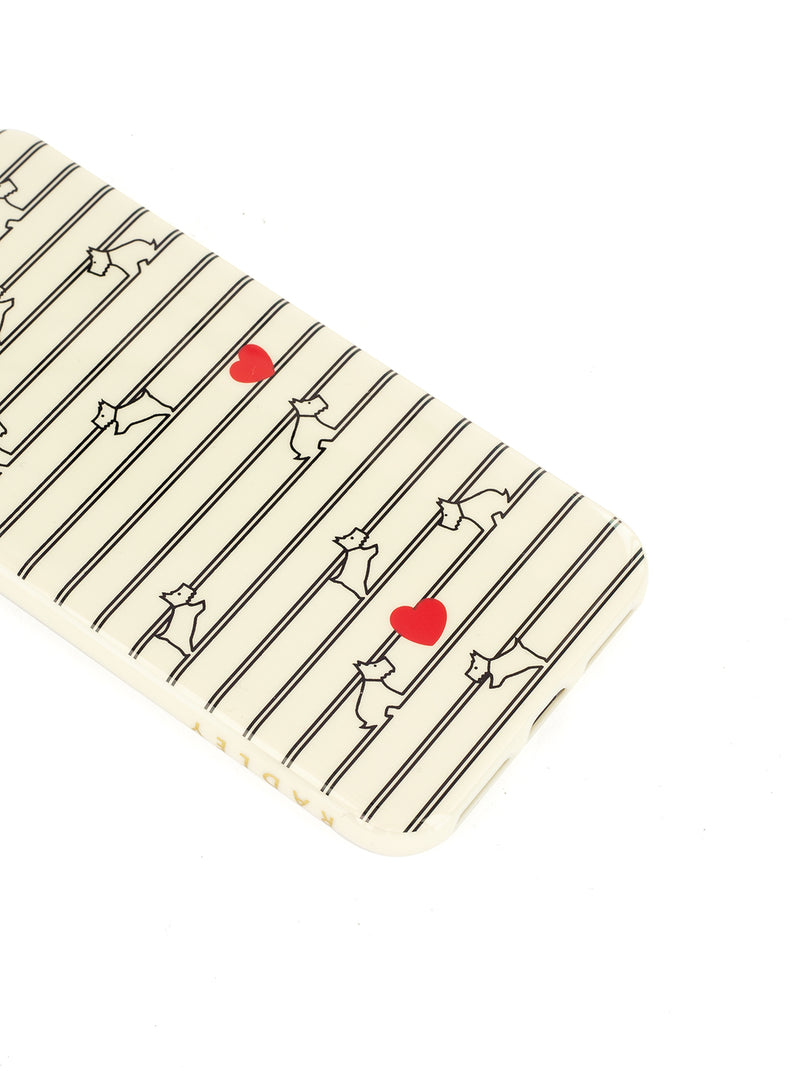 RADLEY Back Shell for iPhone X/XS - STRIPEY CHALK