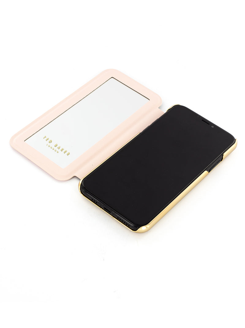 Ted Baker Mirror Case for iPhone X/XS - GGEORGI (Nude)