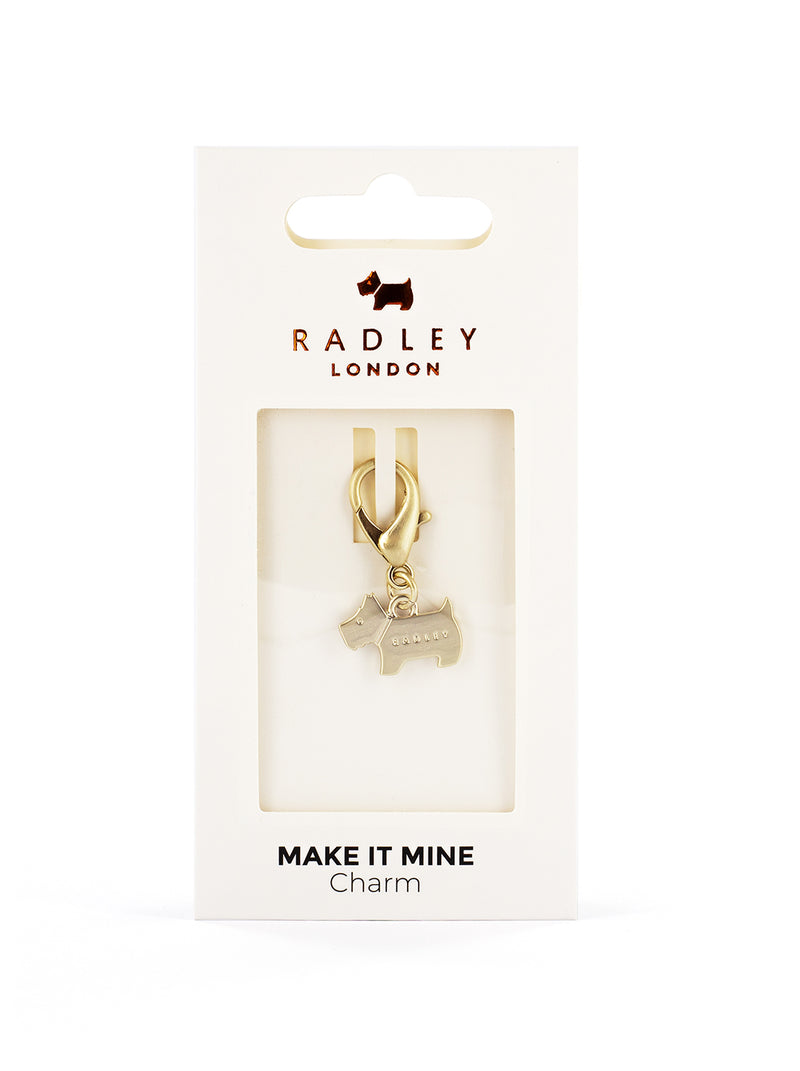 RADLEY Bag Charm - Pale Gold / Dog