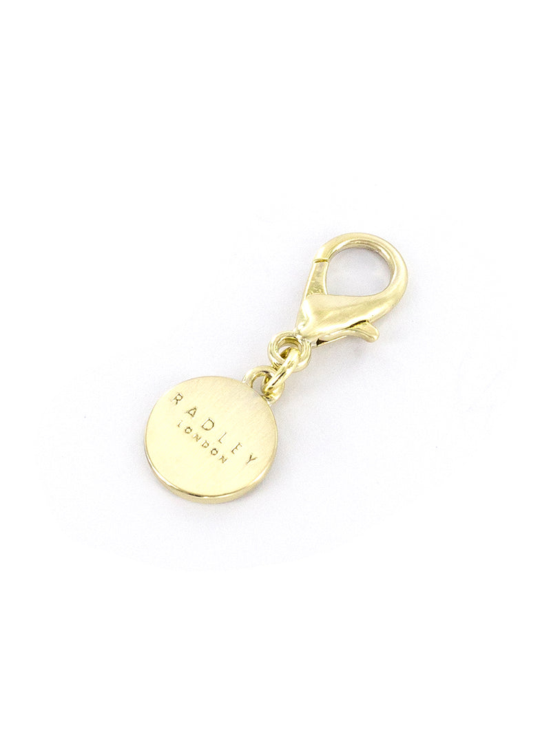 RADLEY Bag Charm - PALE GOLD / ROUND