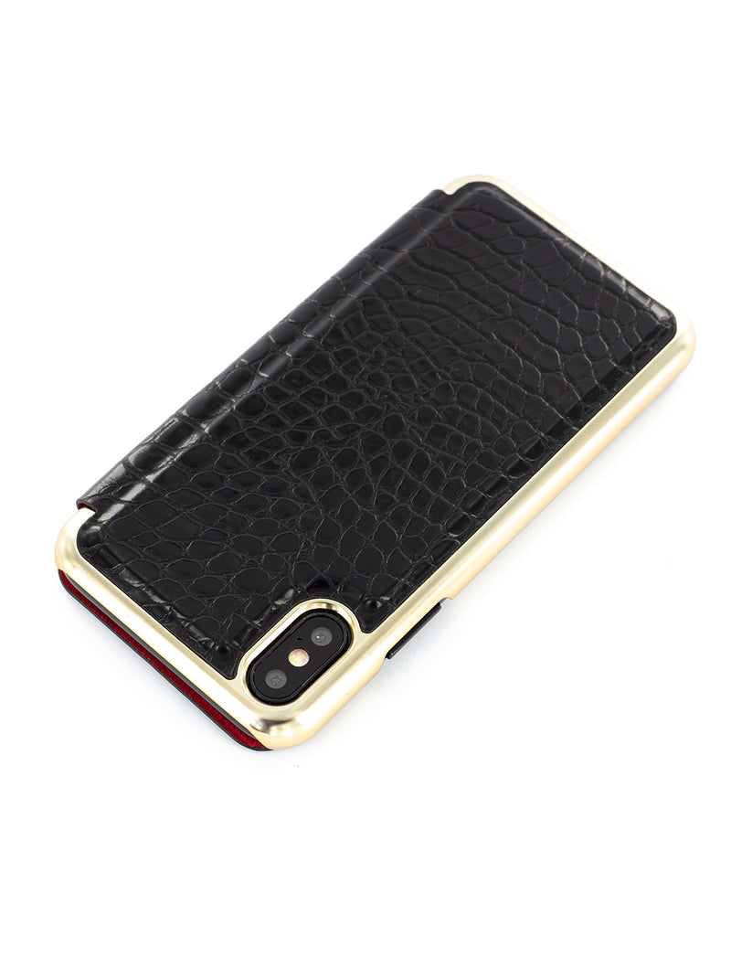 RADLEY Book Style Case for iPhone X / XS - Black Croc