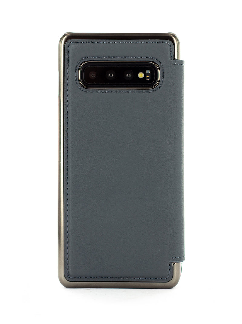 BLAKE Luxury Leather Case for Samsung Galaxy S10 Plus - Seal (Grey)/Gunmetal