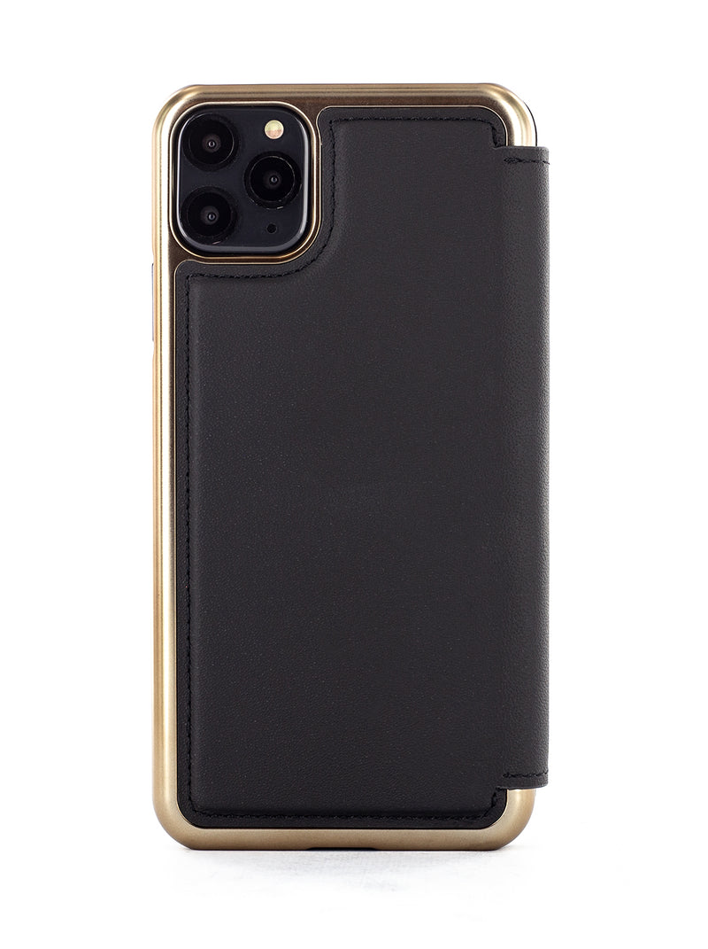 BLAKE Luxury Leather Case for iPhone 11 Pro Max - BELUGA (Black)/Gold
