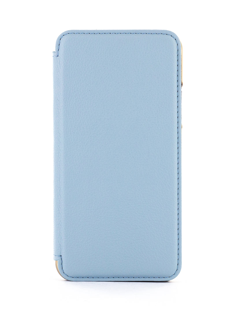 BLAKE Luxury Leather Case for iPhone 11 Pro Max – BEACH HOUSE (BLUE)/GOLD