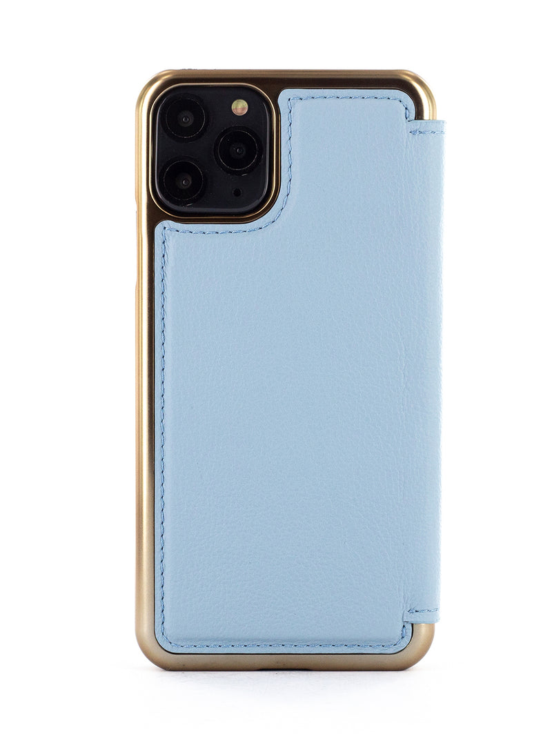 BLAKE Luxury Leather Case for iPhone 11 Pro  – BEACH HOUSE (BLUE)/GOLD