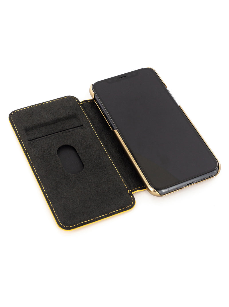 BLAKE Luxury Leather Case for iPhone 11 - Canary (Yellow)/Gold