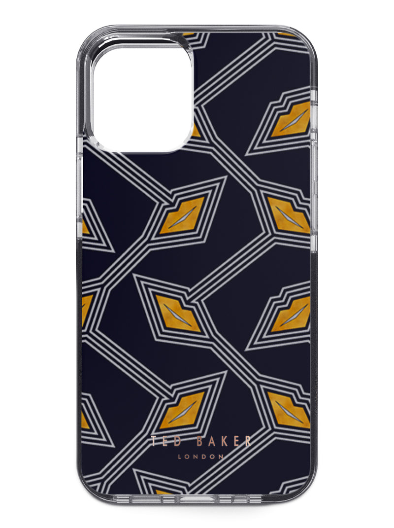 Ted Baker Anti-Shock Case for iPhone 12 Pro Max - Deco Kisses All Over - Black