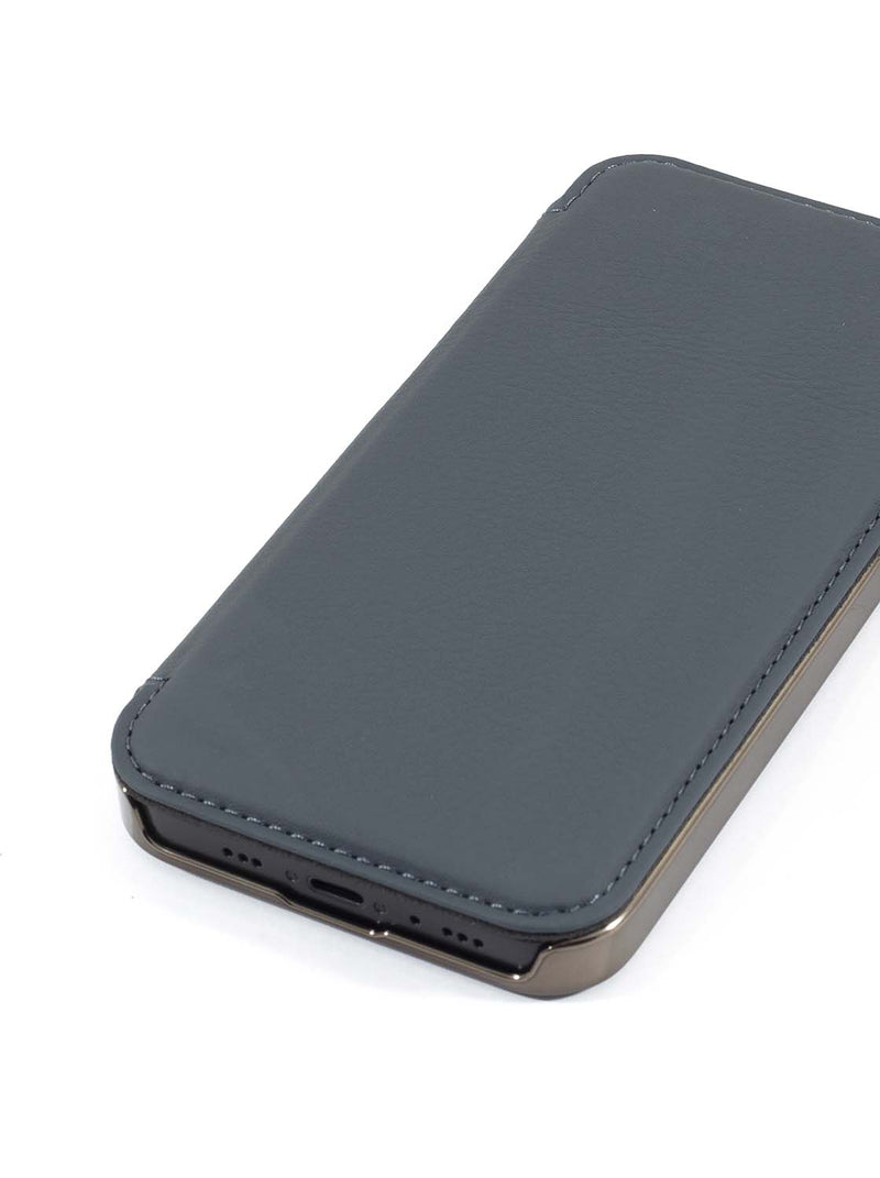 Greenwich BLAKE  Magsafe Leather Case for iPhone 12 mini - Seal (Grey)