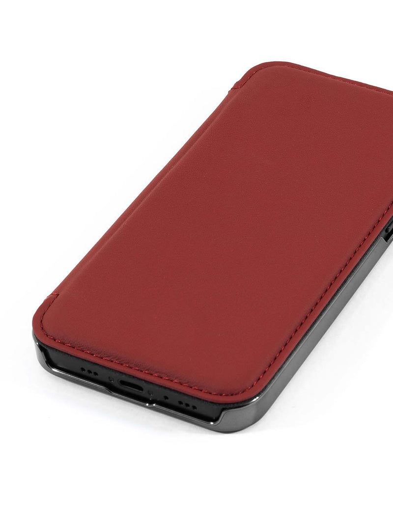 Greenwich BLAKE MagSafe Leather Case for iPhone 12 mini - Fireglow (Red)
