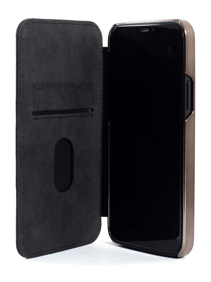 Greenwich BLAKE Leather Case for iPhone 12 - Beluga (Black)