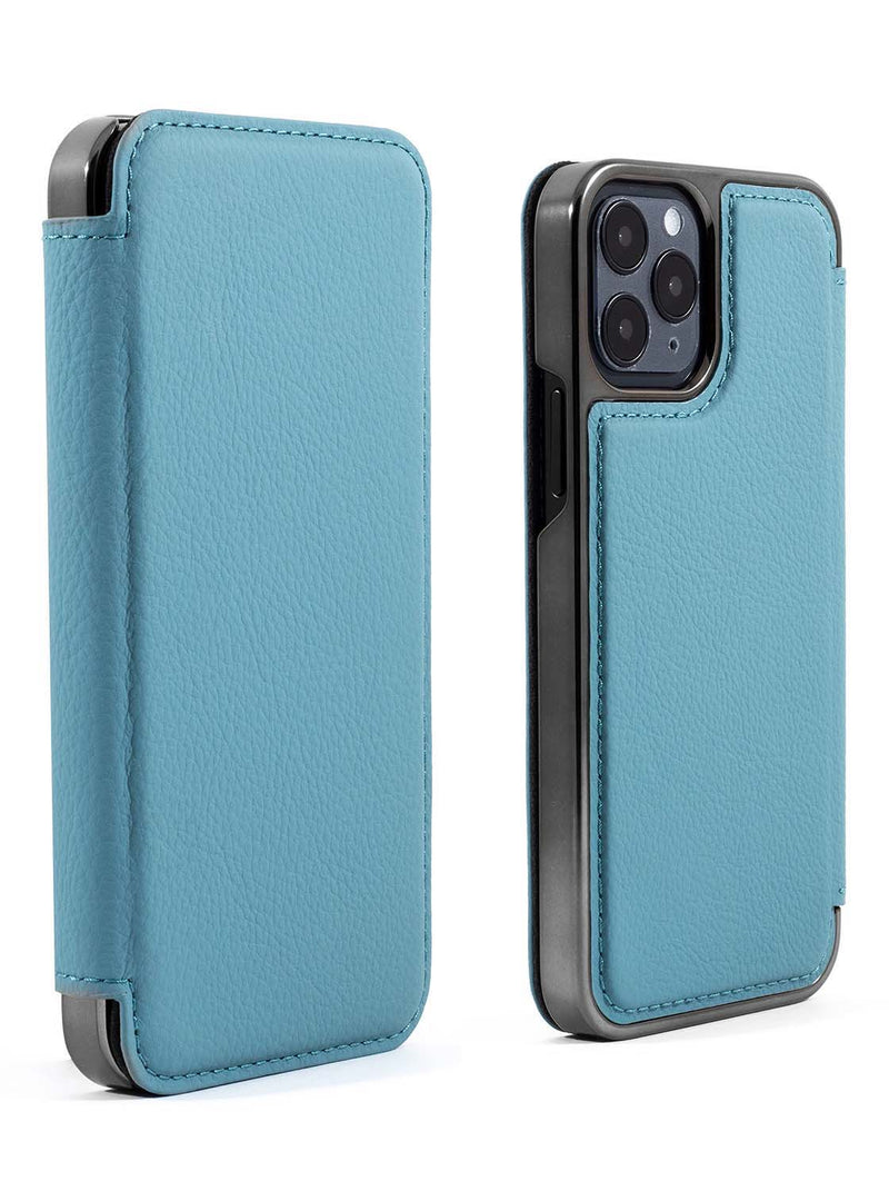 Greenwich BLAKE Leather Case for iPhone 12 Pro - Tahiti (Blue)