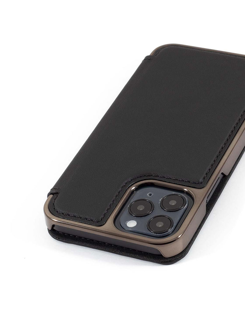 Greenwich BLAKE Leather Case for iPhone 12 Pro Max - Beluga (Black)