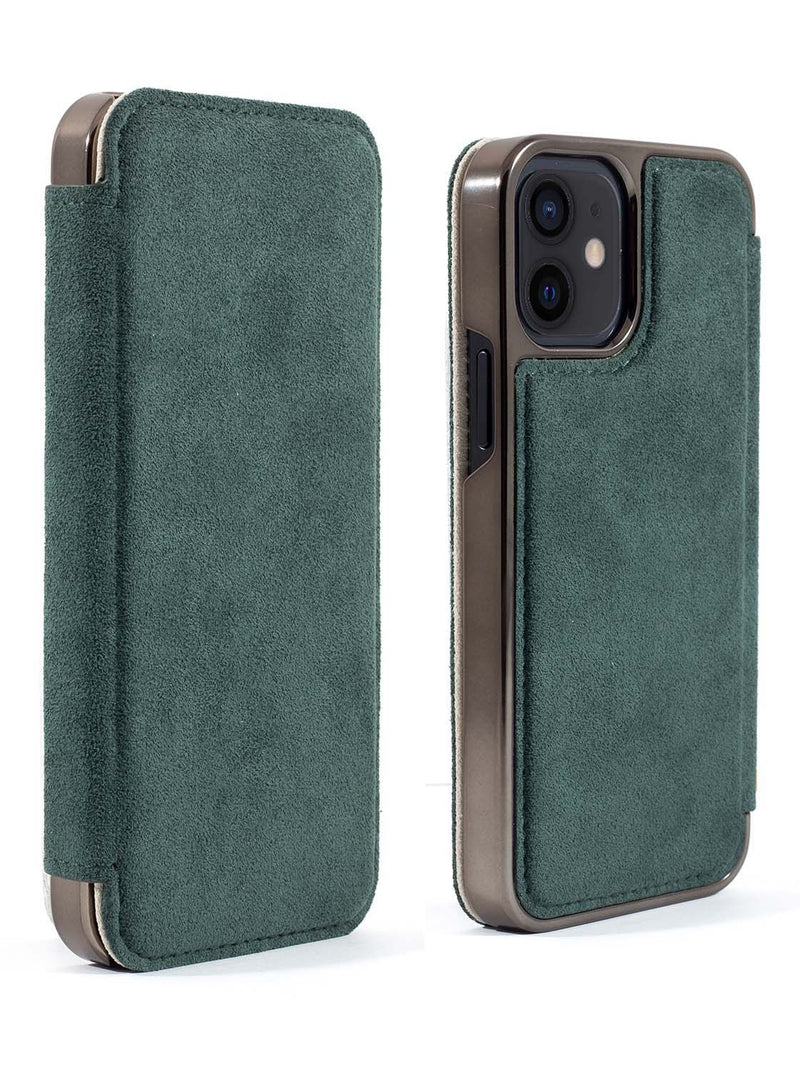 Greenwich BLAKE  Alcantara Case for iPhone 12 mini - Sage (Green)