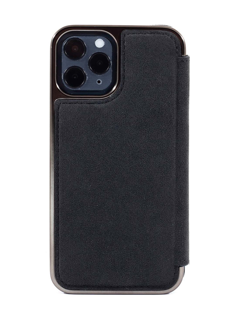 Greenwich BLAKE Alcantara Case for iPhone 12 Pro Max - Beluga (Black)