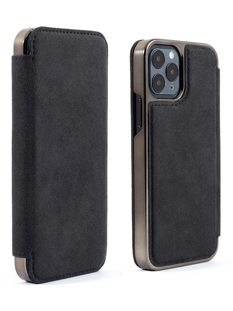 Greenwich BLAKE Alcantara Magsafe Case for iPhone 12 Pro Max - Beluga (Black)