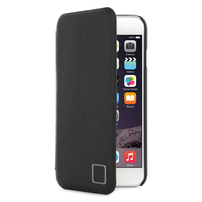 Proporta iPhone 6+/6S+/7+/8+ Leather Folio Case - Black
