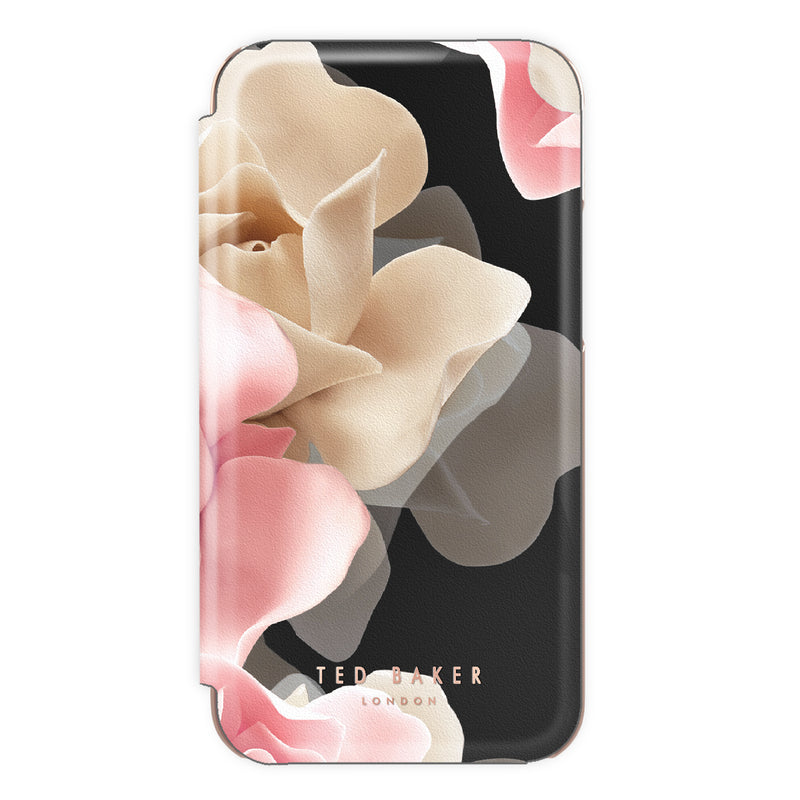 Ted Baker KNOWANE Mirror Folio Case for iPhone 8 - Porcelain Rose (Black)