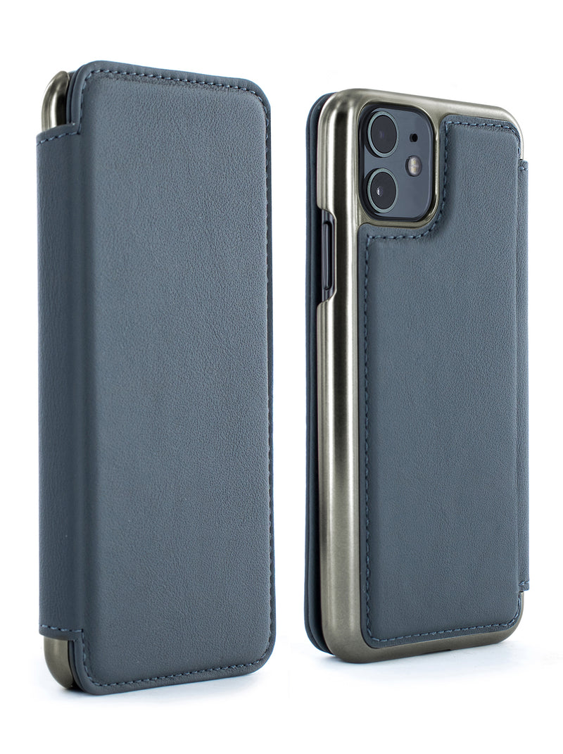 BLAKE Luxury Leather Case for iPhone 11 - SEAL (GREY)/GUNMETAL