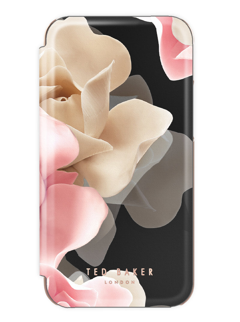 Ted Baker KNOWANE Mirror Folio Case for iPhone XR - Porcelain Rose (Black)