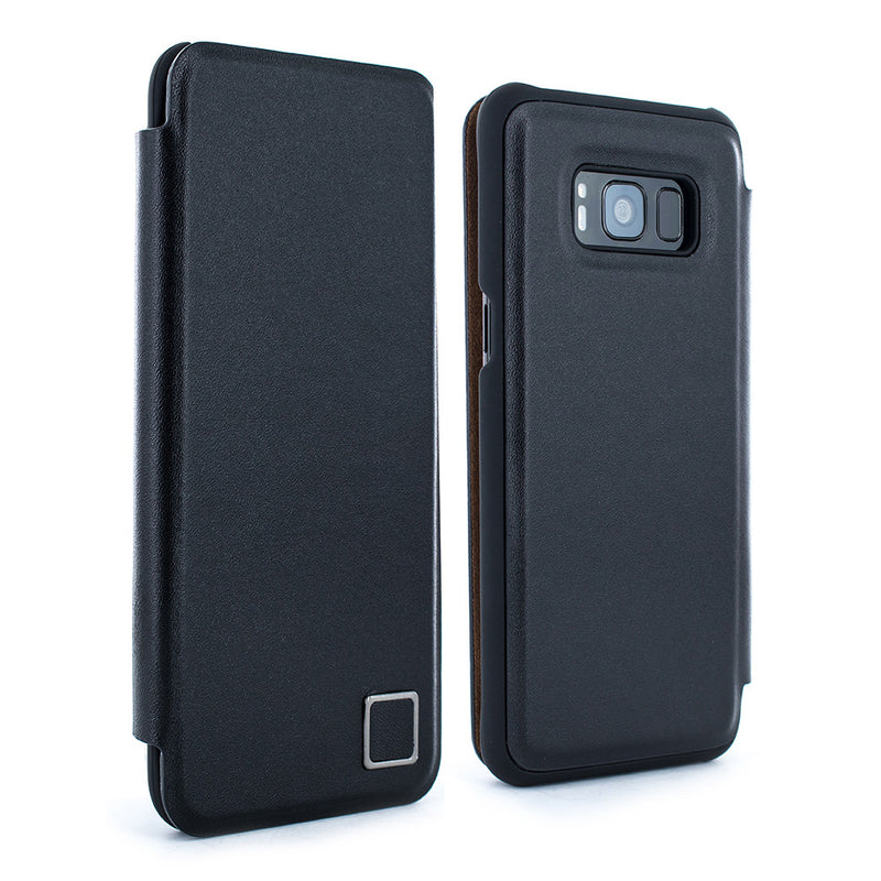 Samsung S8+ Leather Folio Case - Black