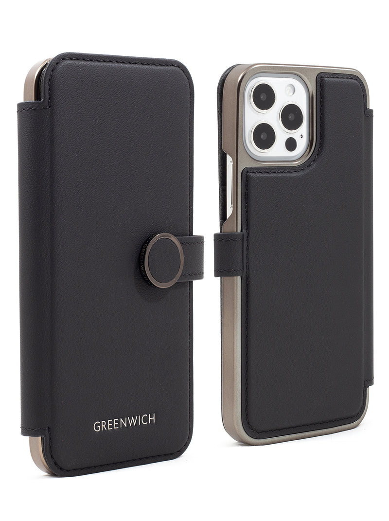 Greenwich OXFORD MagSafe Leather Case for iPhone 12 Pro - Beluga