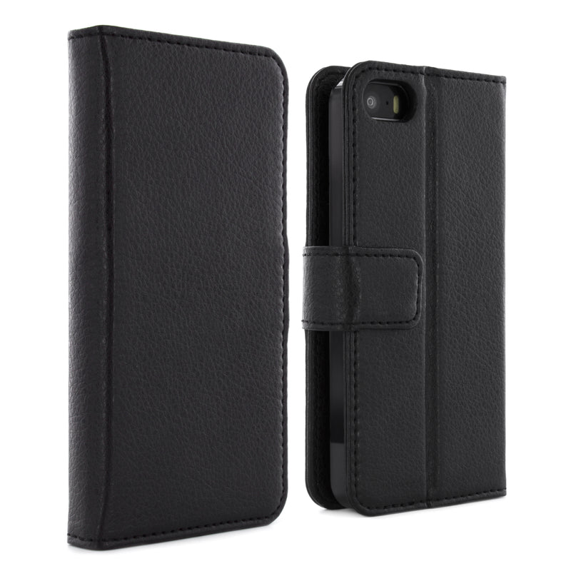 iPhone 5/ 5S/ SE (2016) Folio Case - Black