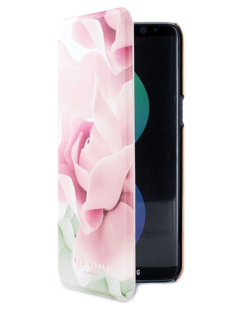 Flip cover image of the Ted Baker Samsung Galaxy S8 phone case in Nude