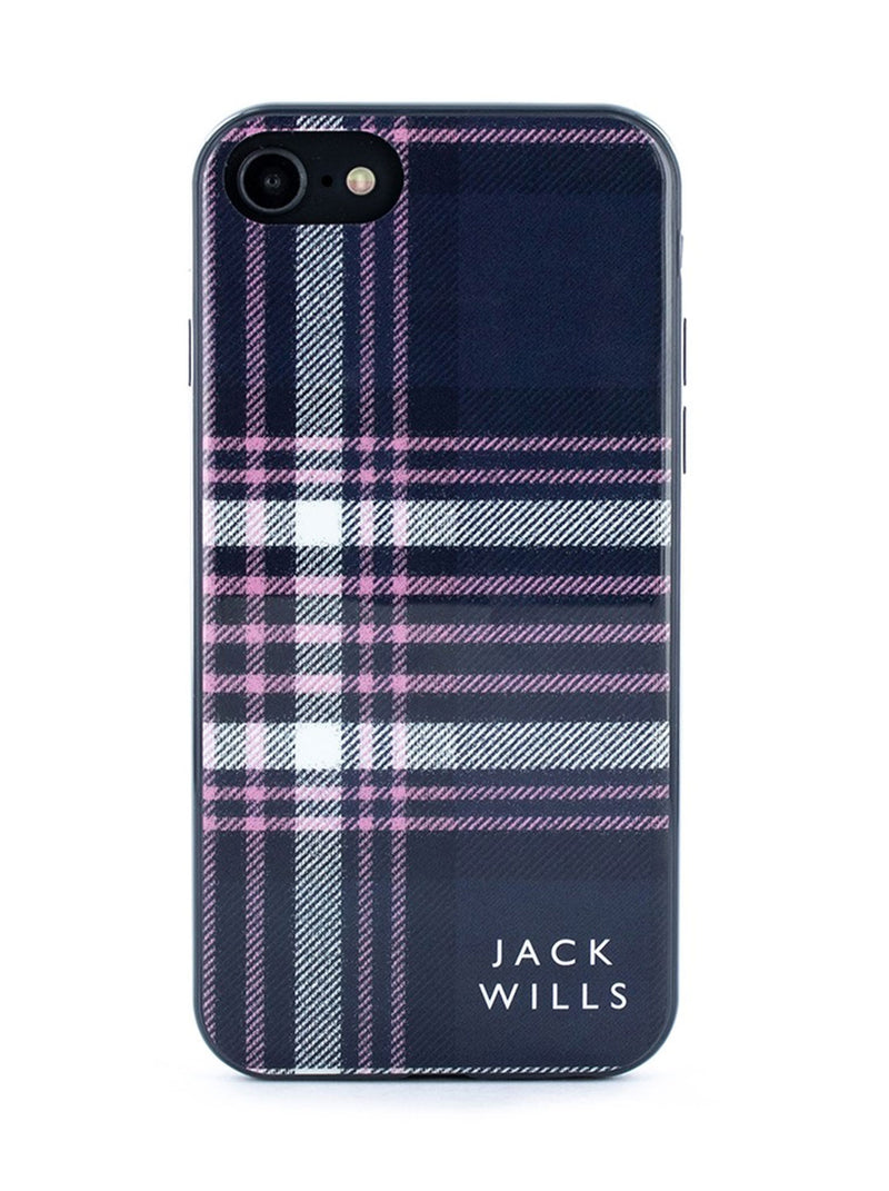 Jack Wills BRAMPTON Hard Shell for iPhone 8 / 7 / 6 - Pink/Navy Check
