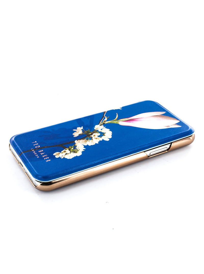 Face up image of the Ted Baker Apple iPhone XS / X phone case in Blue