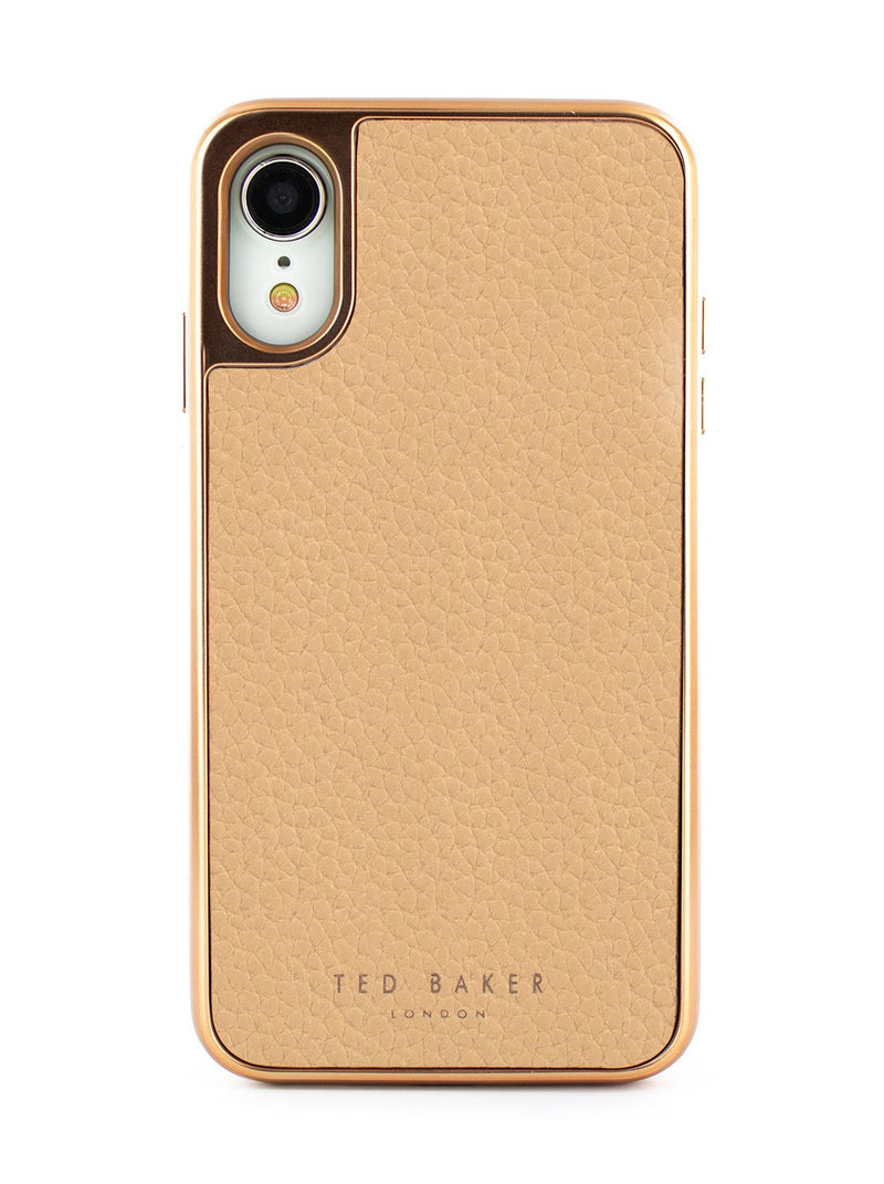 Hero image of the Ted Baker Apple iPhone XR phone case in Taupe