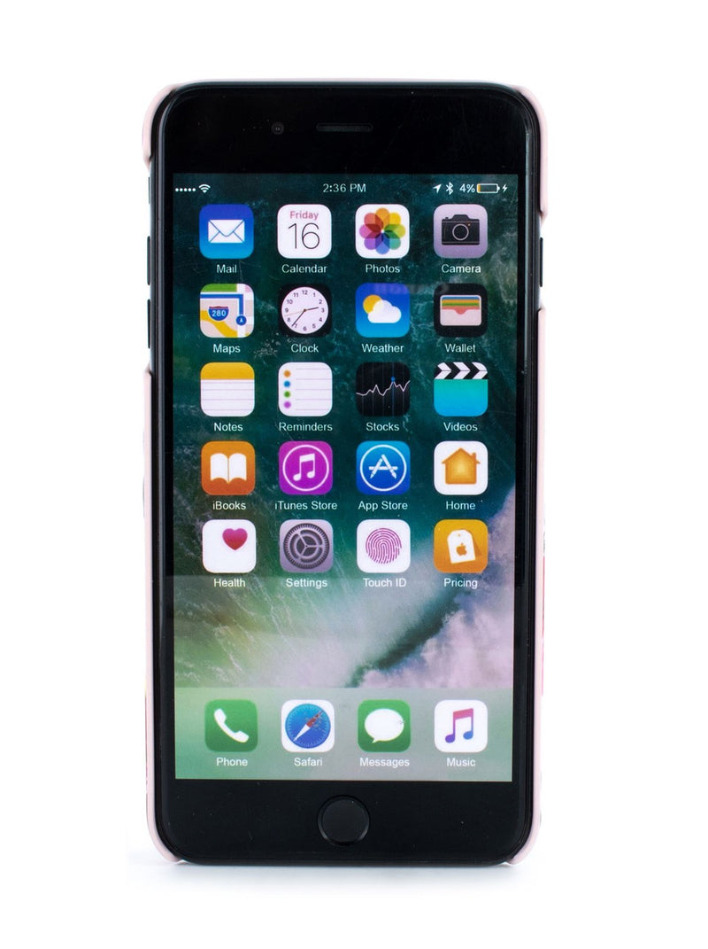 Front image of the Ted Baker Apple iPhone 8 Plus / 7 Plus phone case in Arboretum Black