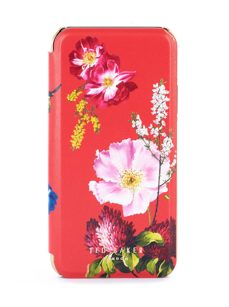 Hero image of the Ted Baker Apple iPhone XS / X phone case in Berry Sundae Red