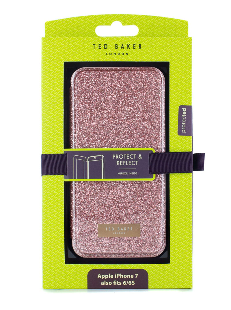 Packaged image of the Ted Baker Apple iPhone 8 / 7 / 6S phone case in Rose Gold