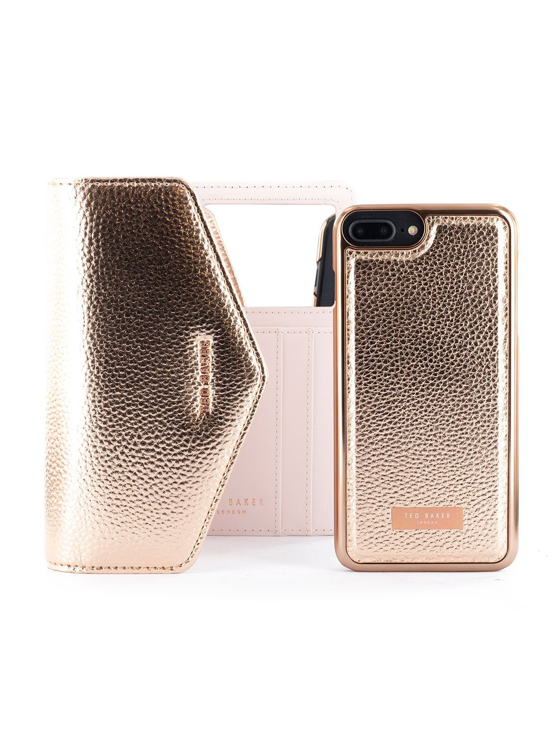 Bag with Case image of the Ted Baker Apple iPhone 8 Plus / 7 Plus phone case in Rose Gold