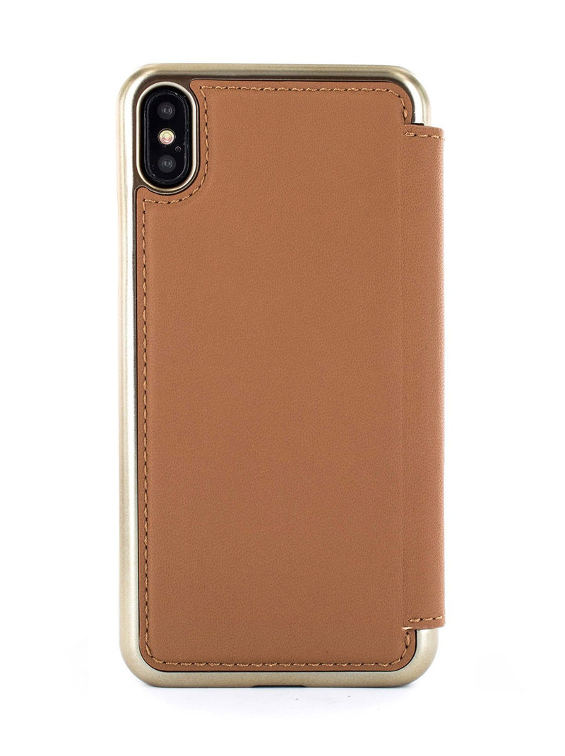 Back image of the Greenwich Apple iPhone XS Max phone case in Saddle Brown