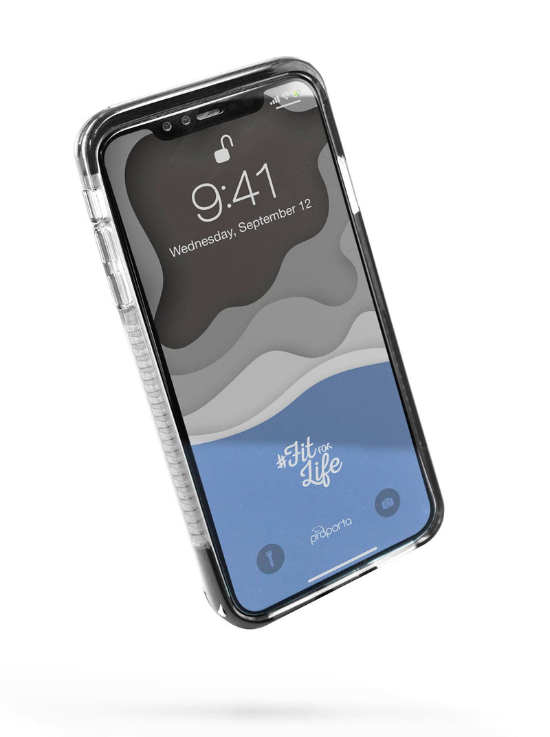 Front image of the Proporta Apple iPhone XS Max phone case in Black