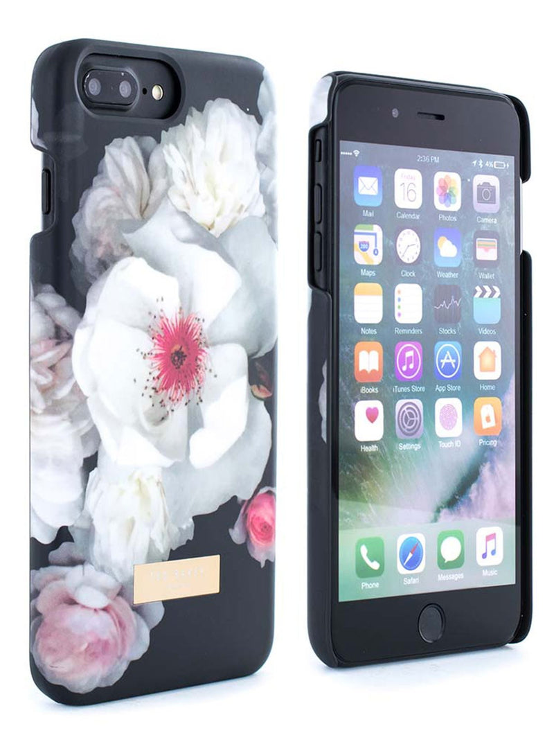Front and back image of the Ted Baker Apple iPhone 8 Plus / 7 Plus phone case in Black