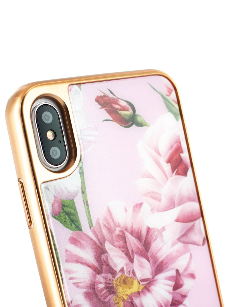 Detail image of the Ted Baker Apple iPhone XS / X phone case in Pink